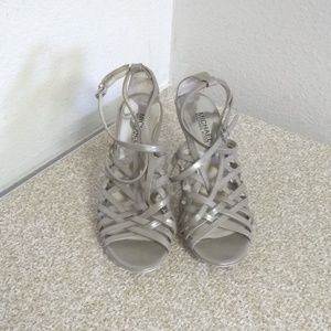 Michael Michael Kors Silver Leather Sandals